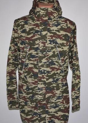 Куртка в стиле милитари от фирмы addict (m) удлиненная, rip-stop.