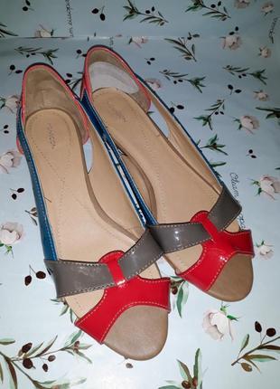 Стильные фирменные туфли на низком каблуке monsoon, размер 39