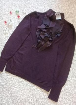 Джемпер свитер рюши цвет бургунди р. 44-46 от next