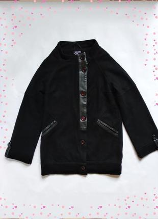 Шерстяное пальто кокон оверсайз just female