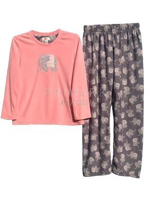 Женская пижама флис primark
