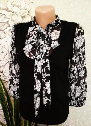 Блуза-обманка с жилеткой, жилет. 1+1= 50% скидки на 3ю вещь.