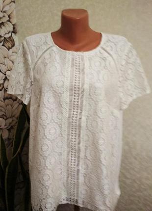 Комбинированная блуза, кружево. 1+1= 50% скидки на 3ю вещь.