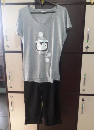 Пижама с теплыми штанами