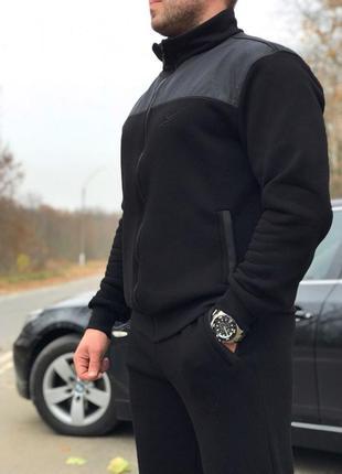 (xl, 2xl, 3xl, 4xl) зимний мужской спортивный костюм от производителя. цвет черный