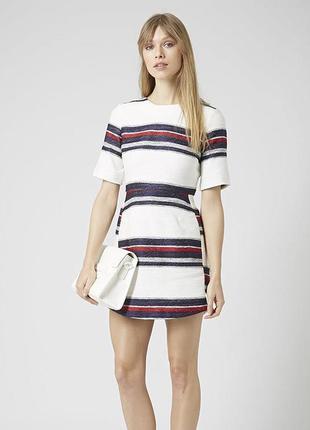 Текстурное платье в морскую полоску topshop плотное