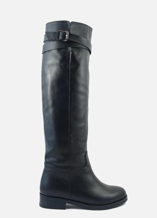 Зима сапоги натуральная кожа / зимние кожаные трубы 36 37 38 39 40 р