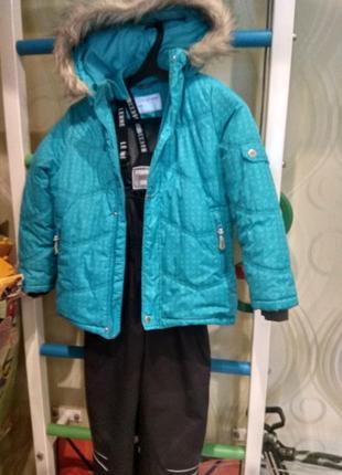 Зимний комплект полукомбинезон шапка lenne, куртка jonathan, размер 116