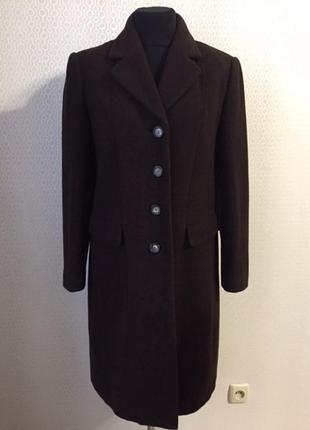 Классическое шерстяное пальто большого размера (нем 42, укр 48-50) от bexleys