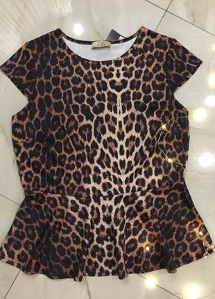 Блуза тренд леопардовый принт