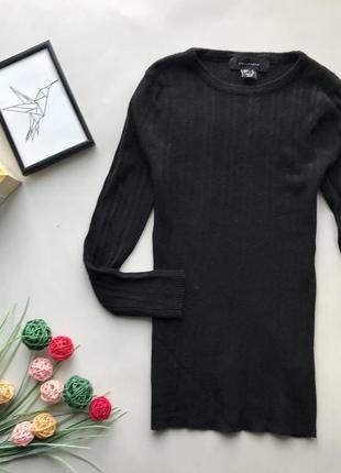 Базовый чёрный гольф в рубчик / чёрный свитер в рубчик atmosphere