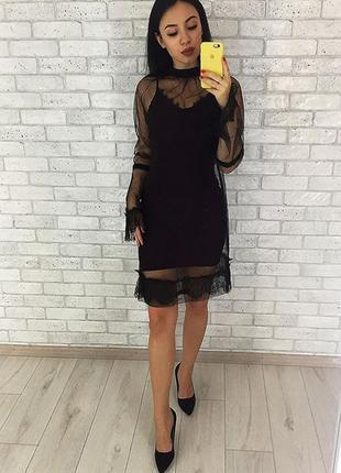 Платье миди стильное