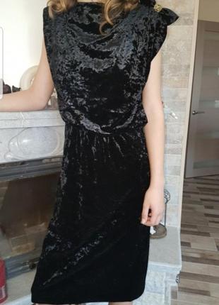 Платье черное mango sр
