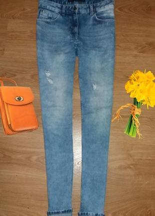 Крутые джинсы next с высокой посадкой размер 10