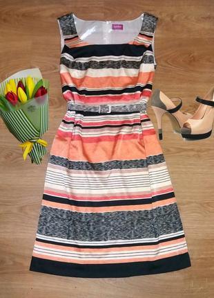 Бесподобное платье в полоску together размер 14