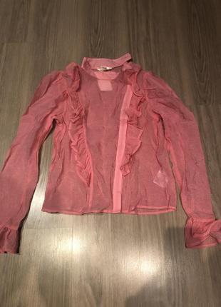 Блюза розовая модная