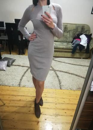 Платье облегающее с разрезами
