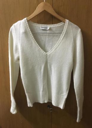 Базовый теплый свитер, джемпер с вырезом