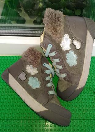 Демисезонные ботинки clarks  8 g ( 25.5 ) стелька 16 см кожа