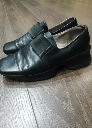 Туфли кожаные  демисезонные marc o'polo