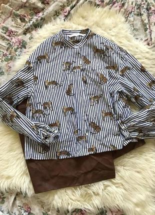 Zara актуальная рубашка