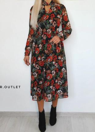 Шикарное платье  миди1