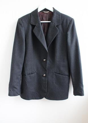 Фирменный удлиненный шерстяной пиджак sisley