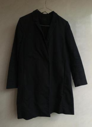 Пиджак тренч плащ cos темно синий размер 34 xs