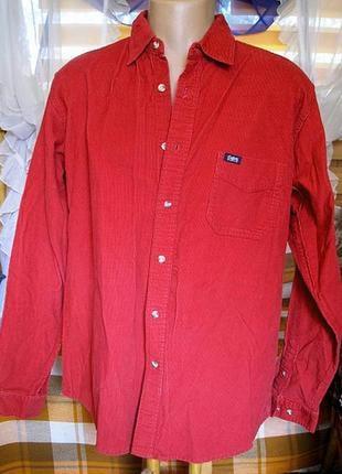 48-50р. вельветовая рубашка от британской компании обхват груди 126см.2
