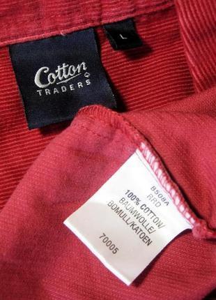 48-50р. вельветовая рубашка от британской компании обхват груди 126см.3
