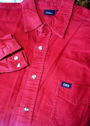 48-50р. вельветовая рубашка от британской компании обхват груди 126см.4