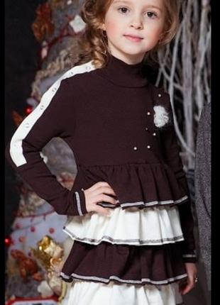 Теплое школьное платье baby angel