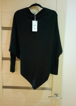 Zara, ассиметричный свитер: размер l