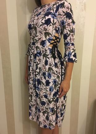 Платье в цветы от topshop