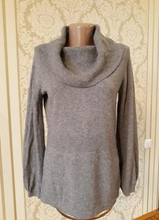 100% кашемир с красивым воротом  фирменная мягусенькая кофта свитер джемпер кардиган