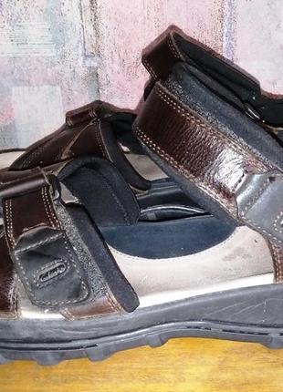 Кожаные сандалии clarks, 44р