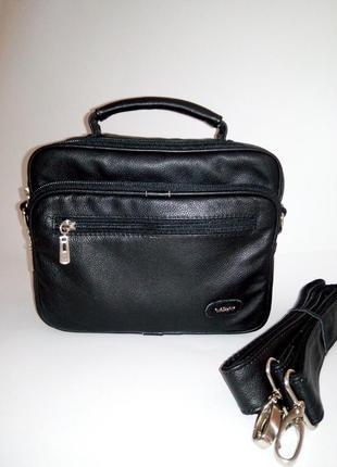 Практичная мужская сумка из натуральной кожи