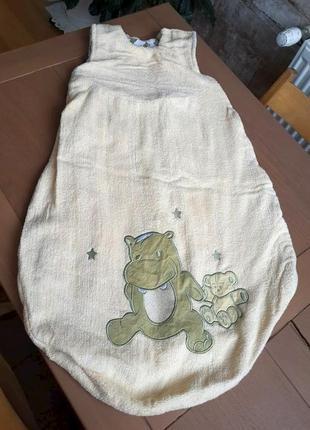 Теплый спальник на 6-24 месяцев. спальный мешок для малыша