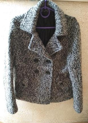 Тёплое шерстяное полупальто куртка пиджак m/l