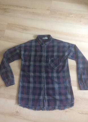 Рубашка из плотной ткани dilvin