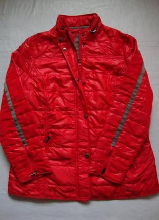Фирменная новая демисезонная красная куртка charles voegele батал большой размер