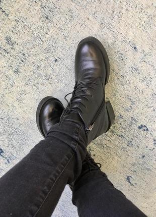 Ботинки зимние из натуральной кожи respect