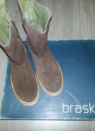 Натуральные демисезонные сапоги braska