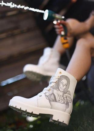 Кожаные ботинки на меху yarose shulzhenko