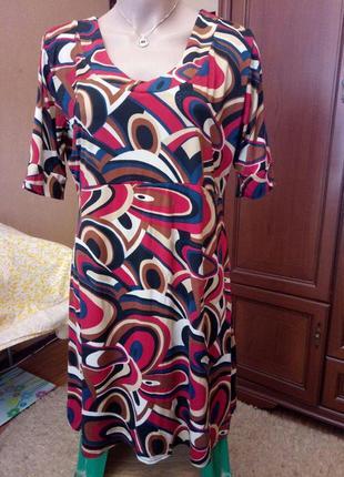 Очень красивое платье-туника (трикотаж масло), 16 размер