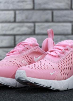 Розовые женские кроссовки nike air max 270 36 37 38 39 40 рр