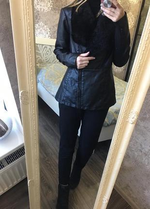 Куртка  мех кожзам
