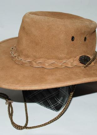 Кожаная ковбойская шляпа унисекс сша.