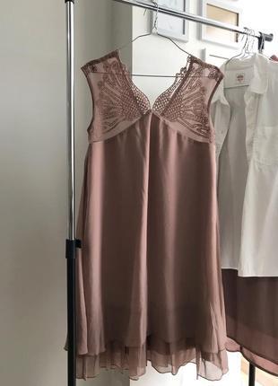 Новое платье с кружевом vila clothes