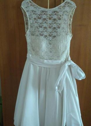 Коктейльное (свадебное) платье